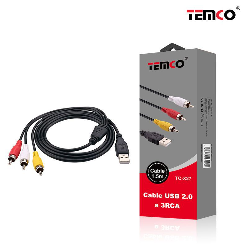 cable usb a 3rca 1.5m