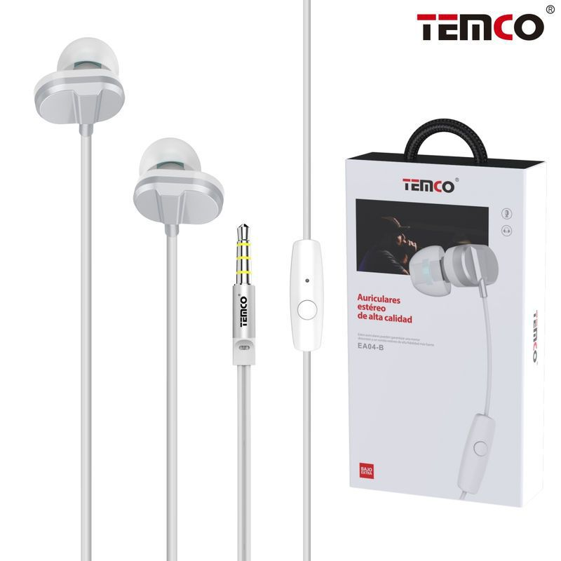 auriculares intrauditivos metál. mic 3.5mm blanco