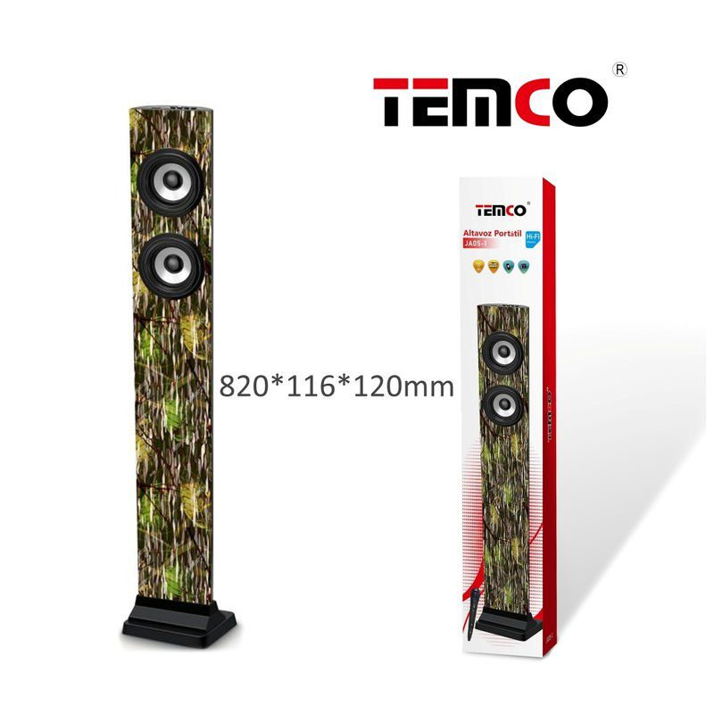 torre altavoz bluetooth con micrófono leaves