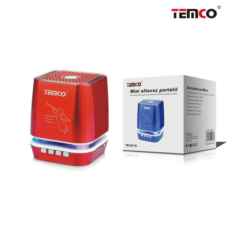 altavoz bluetooth angel rojo