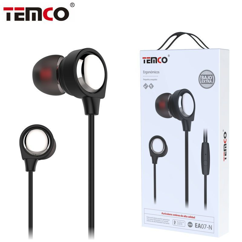 auriculares 3.5mm ea07 negro