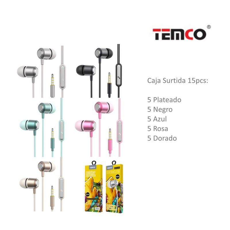 auriculares 3.5mm ea09 pack surtido 15 unds.