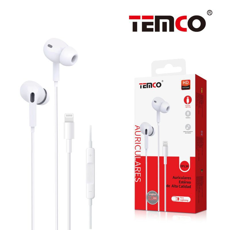 auriculares lightning bluetooth epl34 blanco