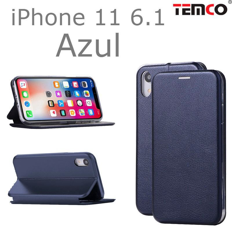 "funda concha iphone 11 6.1"" azul"