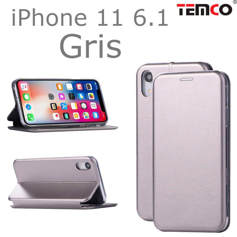 "funda concha iphone 11 6.1"" gris"