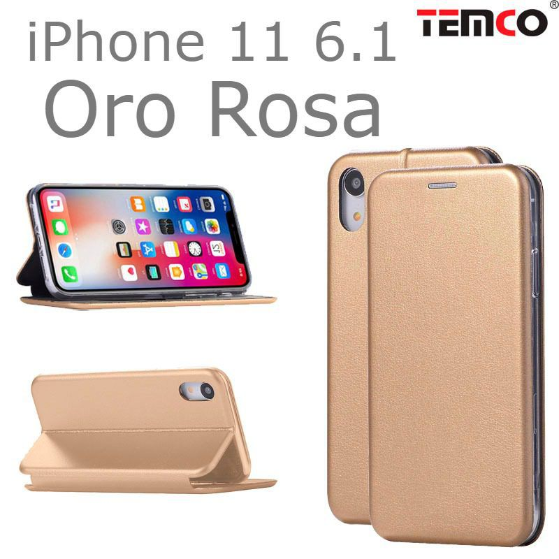 "funda concha iphone 11 6.1"" oro rosa"