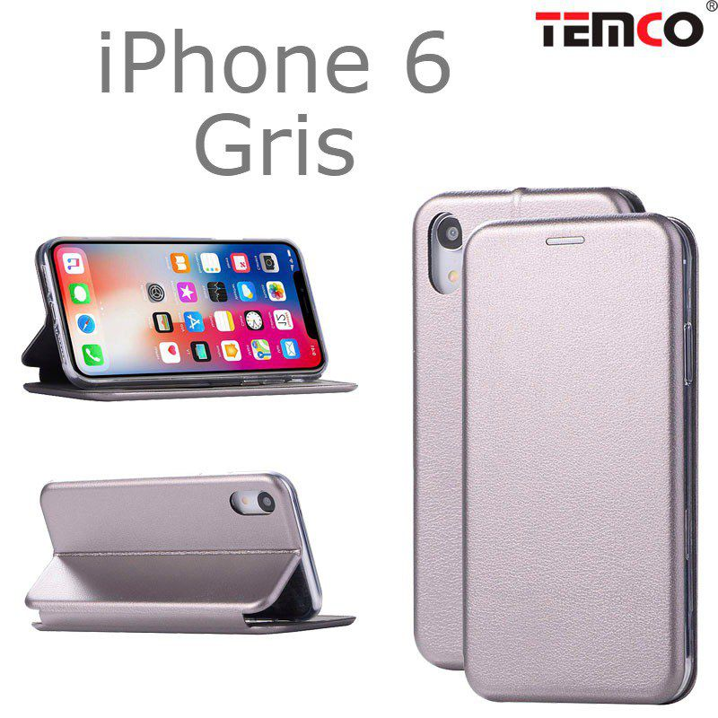 funda concha iphone 6 gris