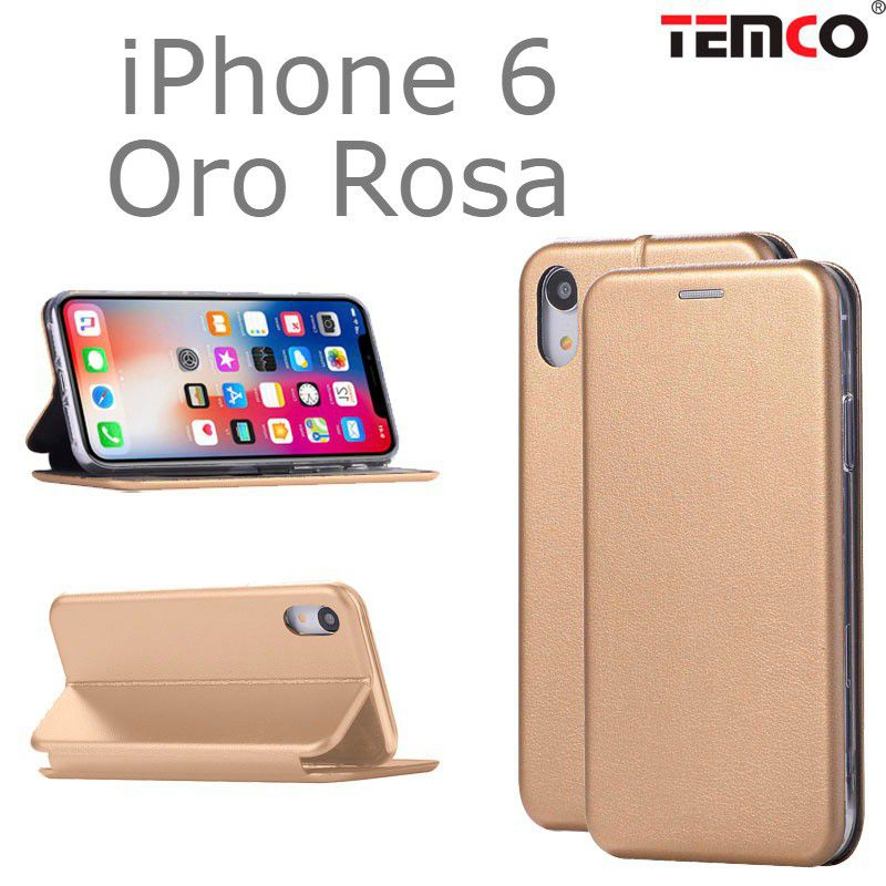 funda concha iphone 6 oro rosa