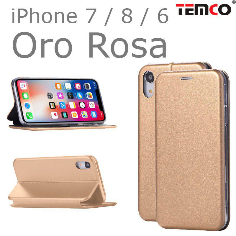 funda concha iphone 7 / 8 / 6 oro rosa
