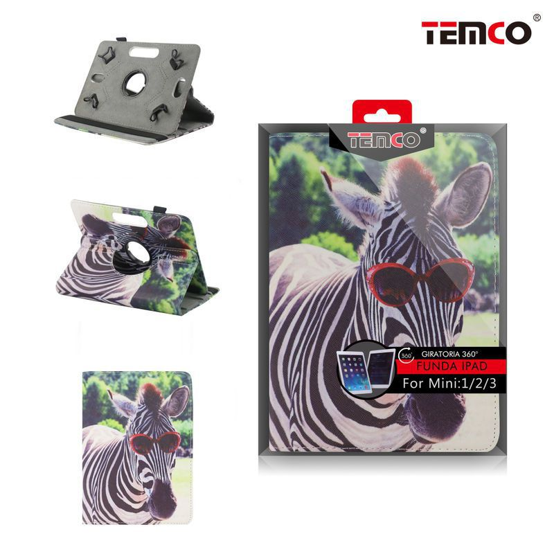 funda ipad mini 1 / 2 / 3 zebra