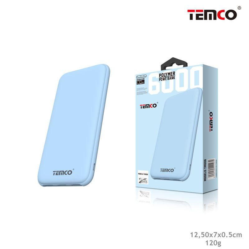 External Battery 6,000 mAh Blue