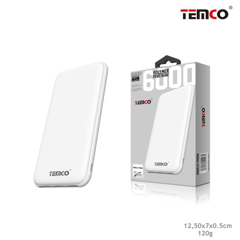 External Battery 6,000 mAh White