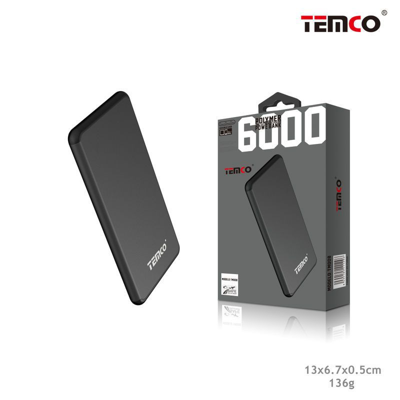 External Battery 6,000 mAh Black