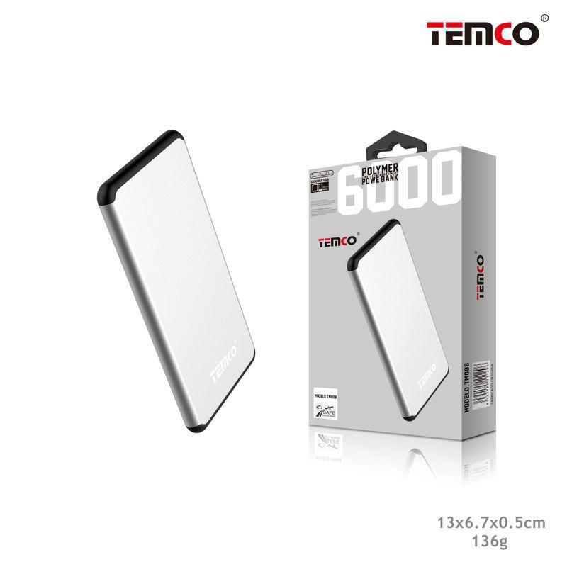 External Battery 6,000 mAh Silver