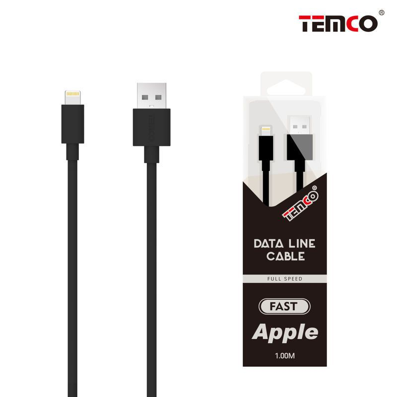new cable 5v 1a 1m apple negro