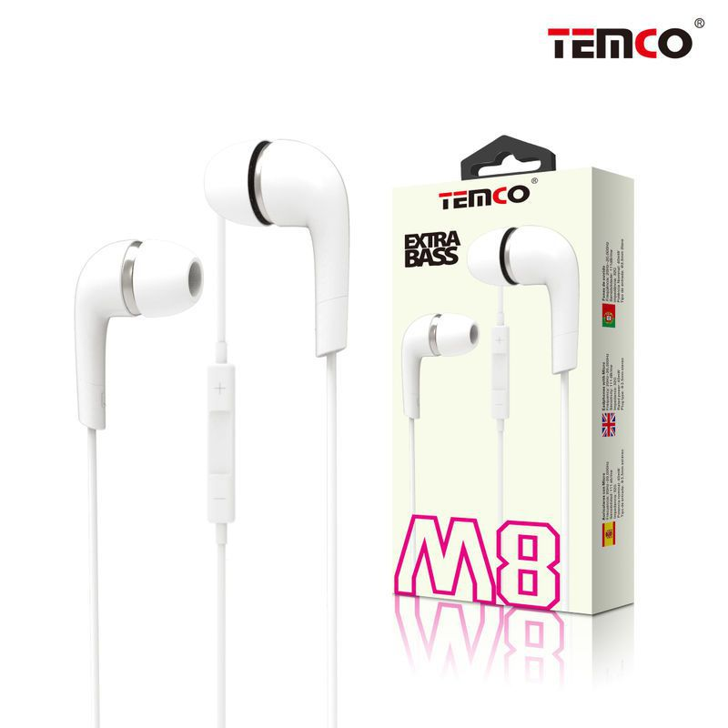 Auriculares M8 Blanco