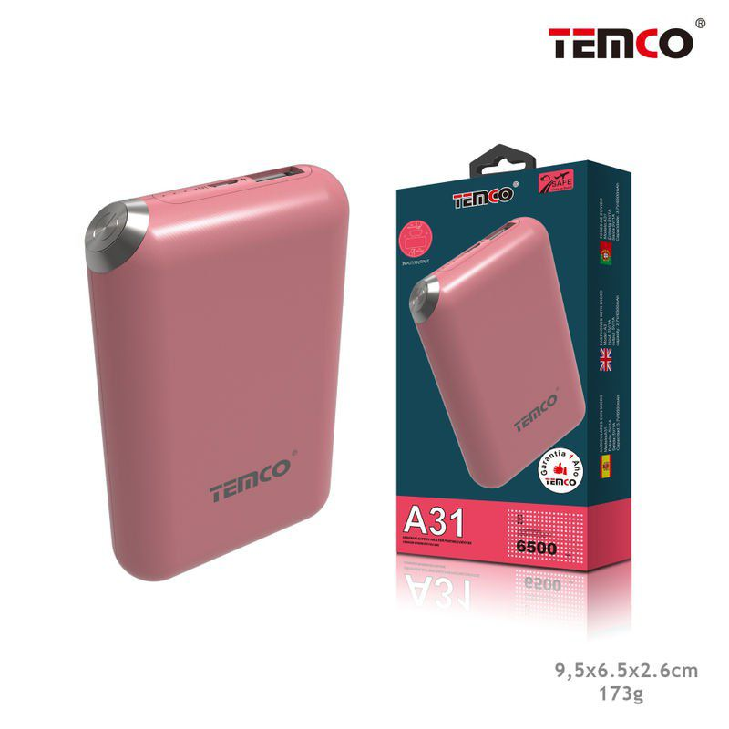 External Battery 6500 mAh Fuxia