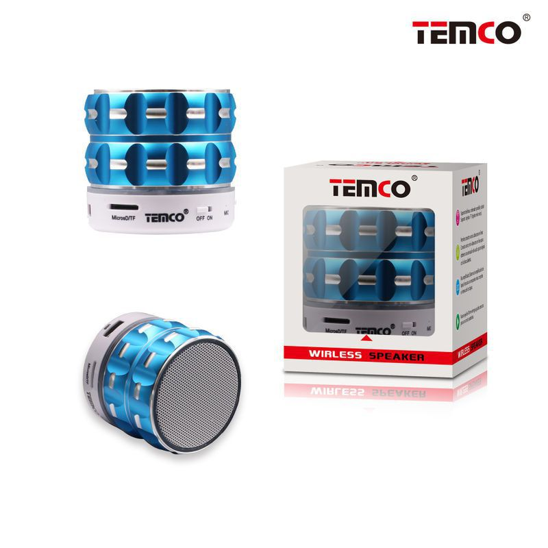 Mini Speaker Blue Cylinder