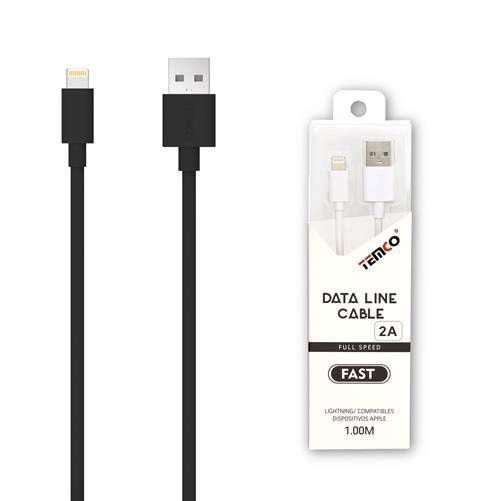 new cable 5v 2a 1m apple negro
