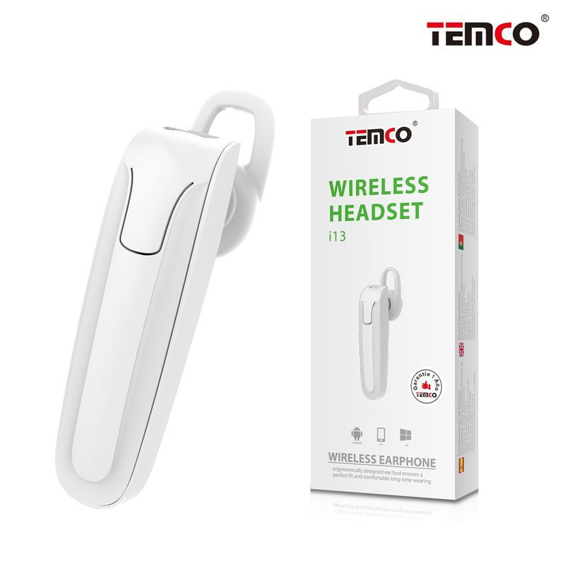 Temco White Bluetooth Handsfree
