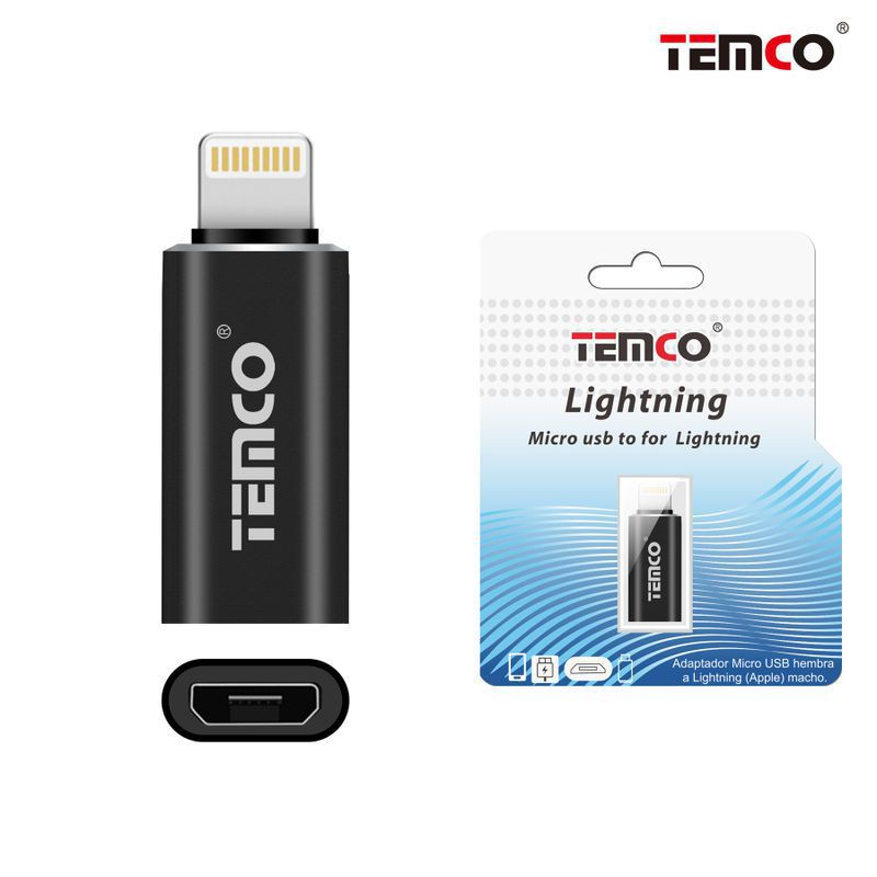 Micro USB Adapter H to Lightning M Black