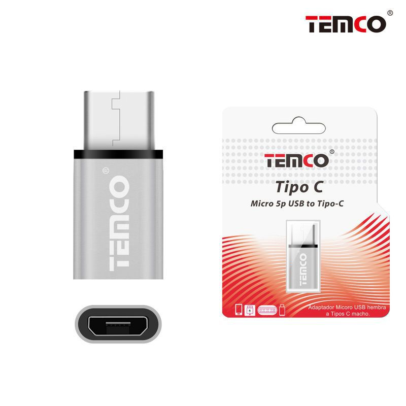 Micro USB Adapter H to Type CM Silver