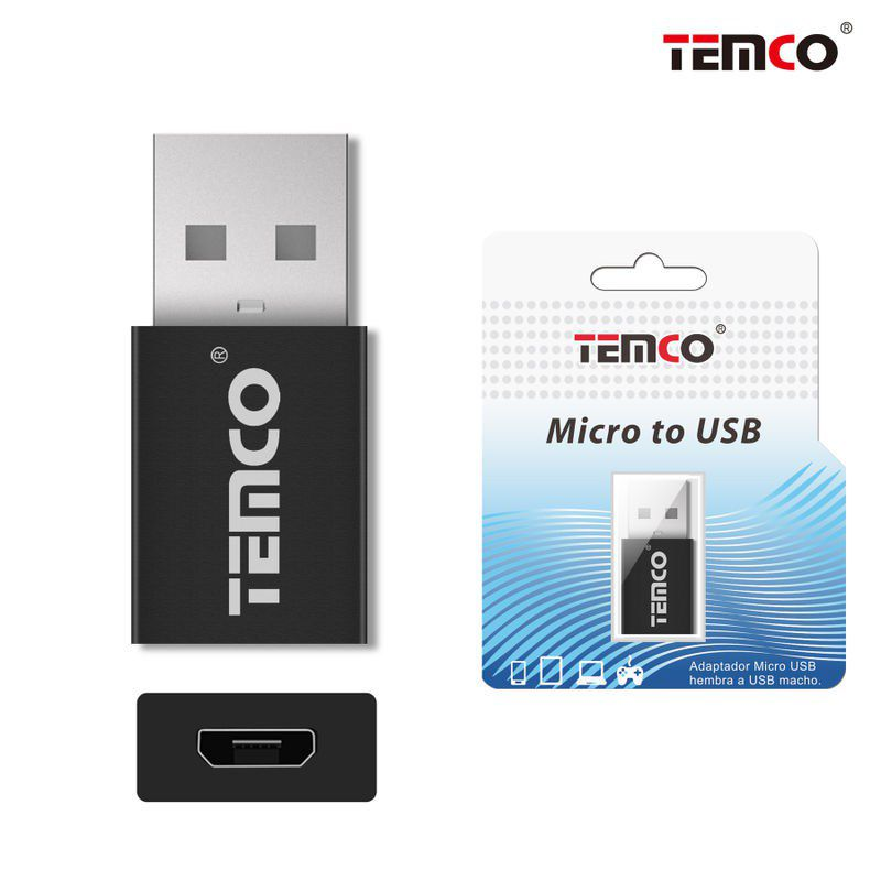 Micro USB H to USB M adapter Black