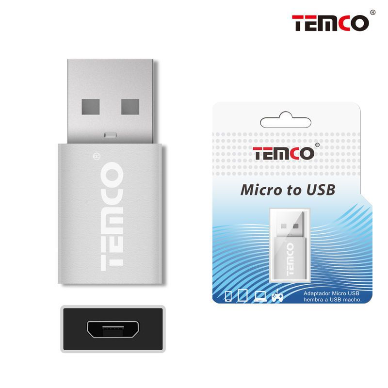 Micro USB H to USB M adapter Silver