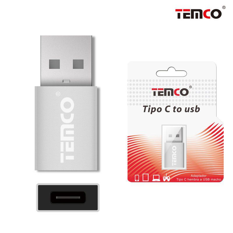 Type C female to USB male adapter Silver