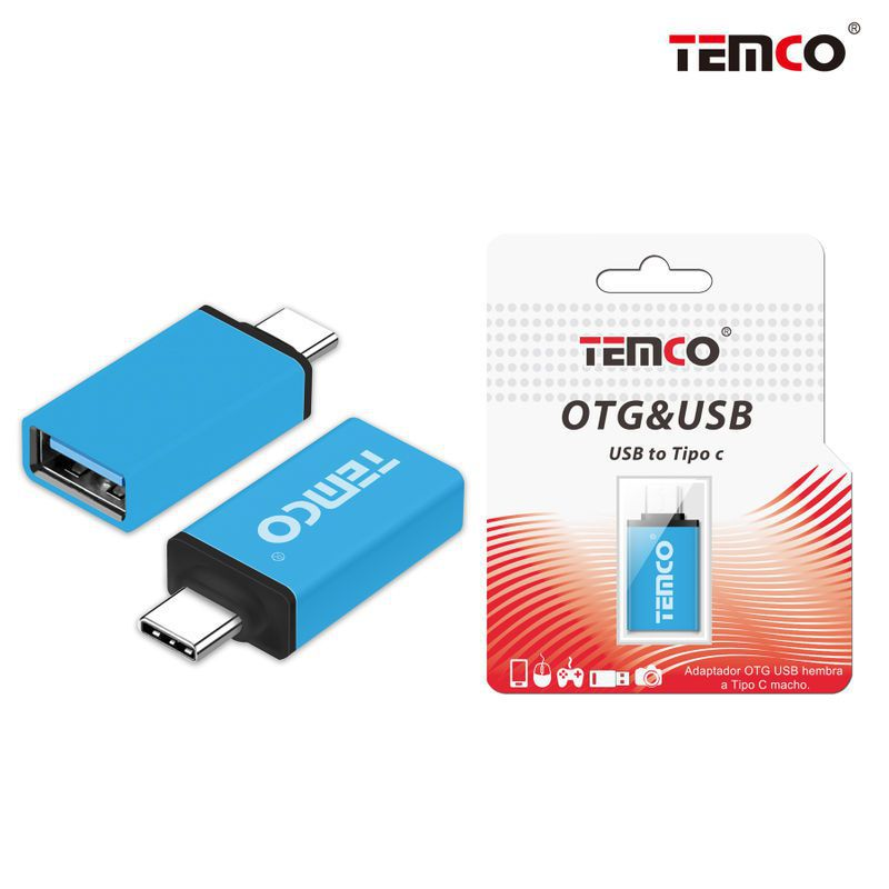 Adapter OTG female to Type C male Blue