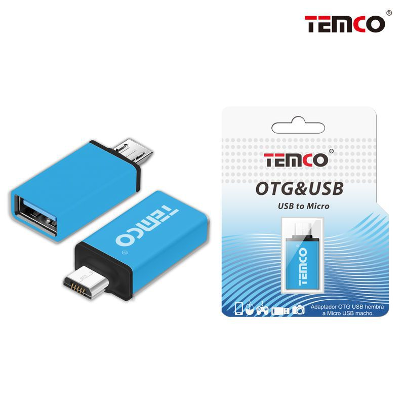 Adapter OTG female to Micro USB male Blue