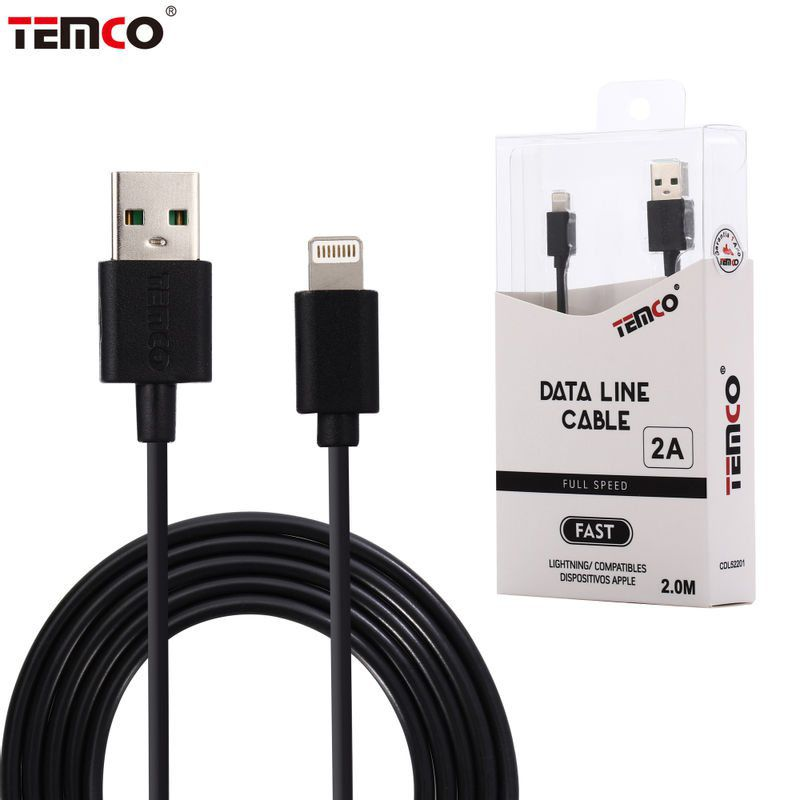 cable 5v 2a 2m apple negro