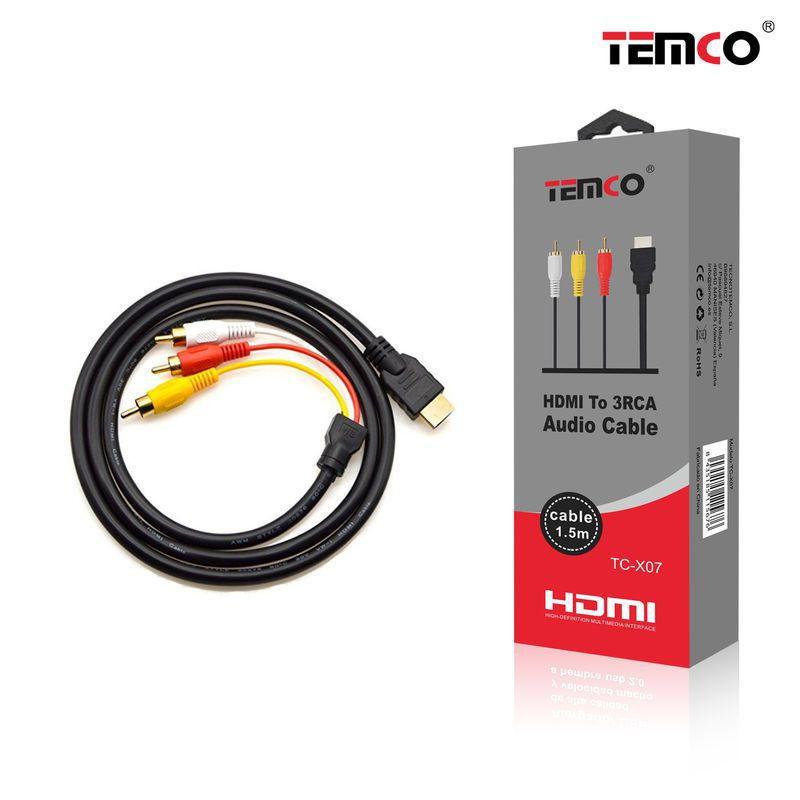 HDMI Cable 3RCA AUDIO 1.5M