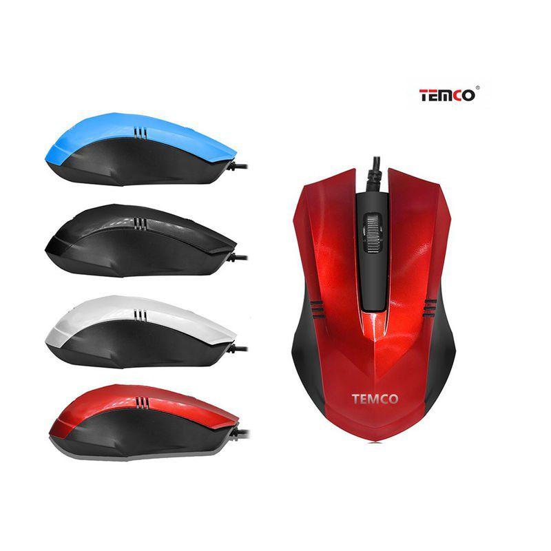 PC Mouse With Red Cable