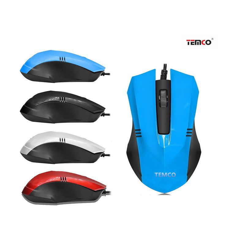 PC Mouse With Blue Cable