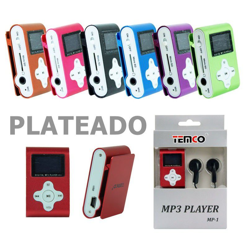 mp3 sin memoria con display plata