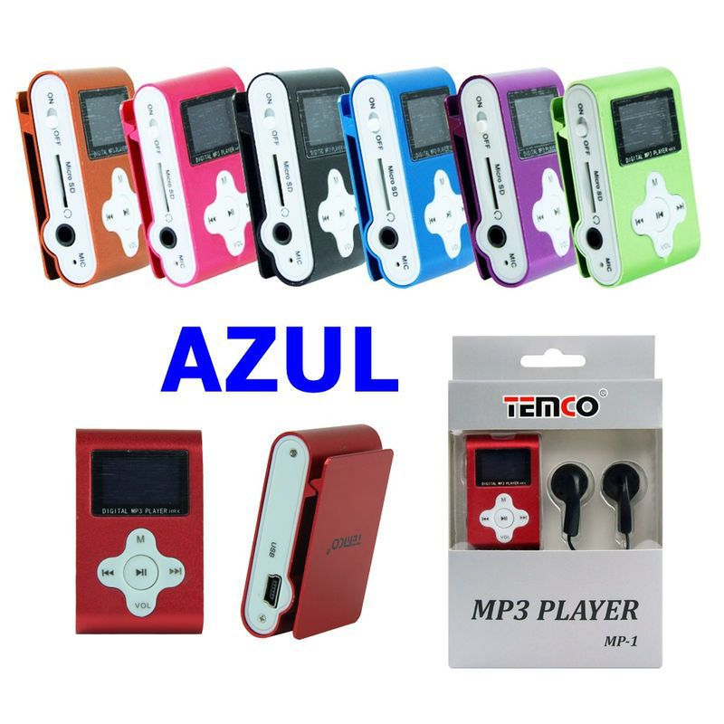 mp3 sin memoria con display azul