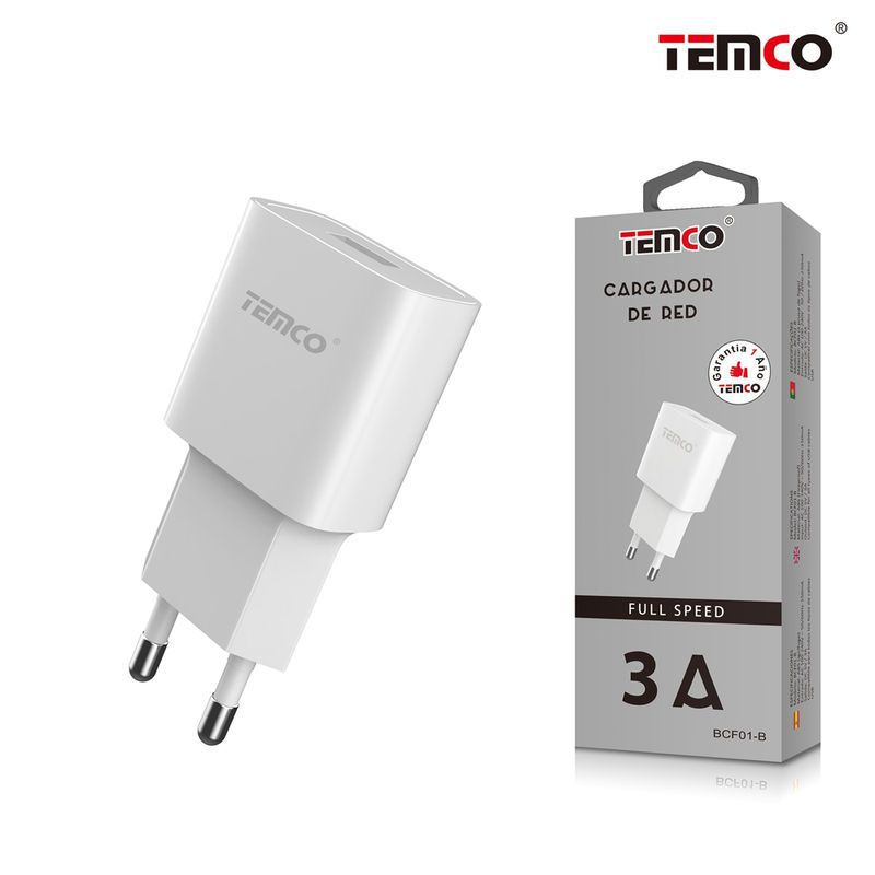 adaptador cargador red u5v3a blanco