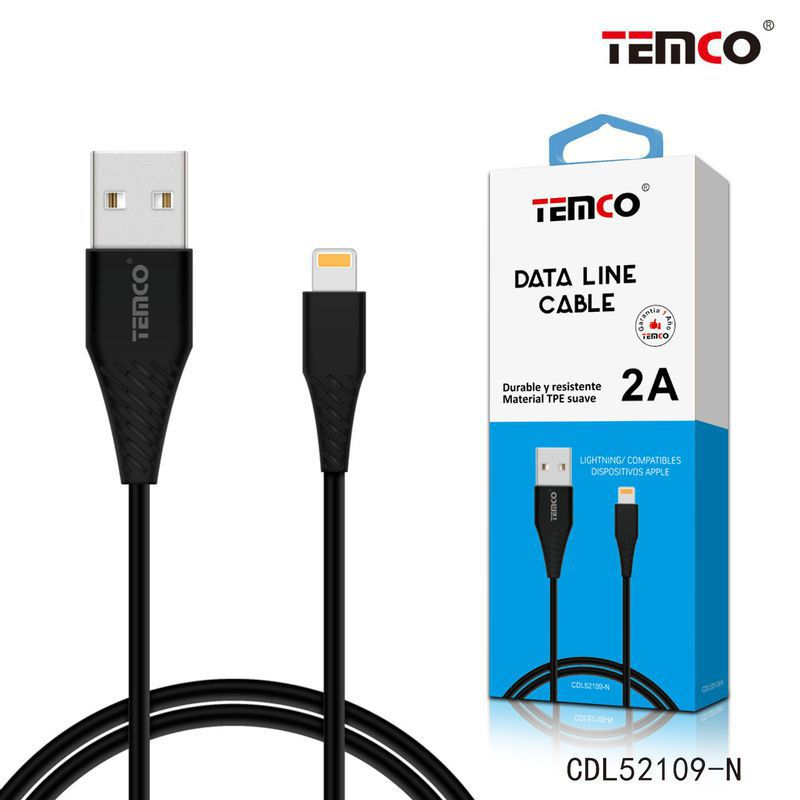 cable tpe 5v 2a 1m apple negro