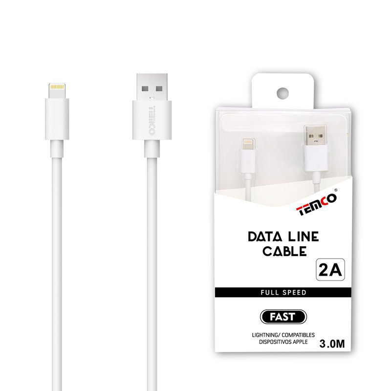 Cable 2A 3m Lightning Blanco