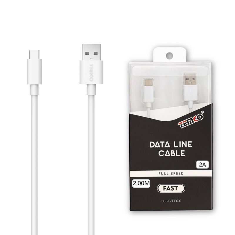 cable 2a 2m tipo c blanco