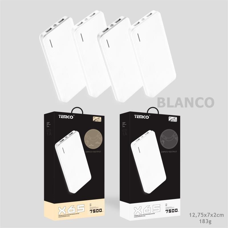 External Battery 7500 mAh White
