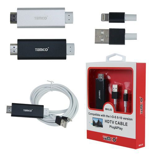 Silver HDTV-MHL IOS cable