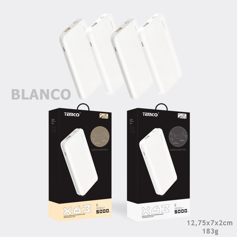 External Battery 5000 mAh White