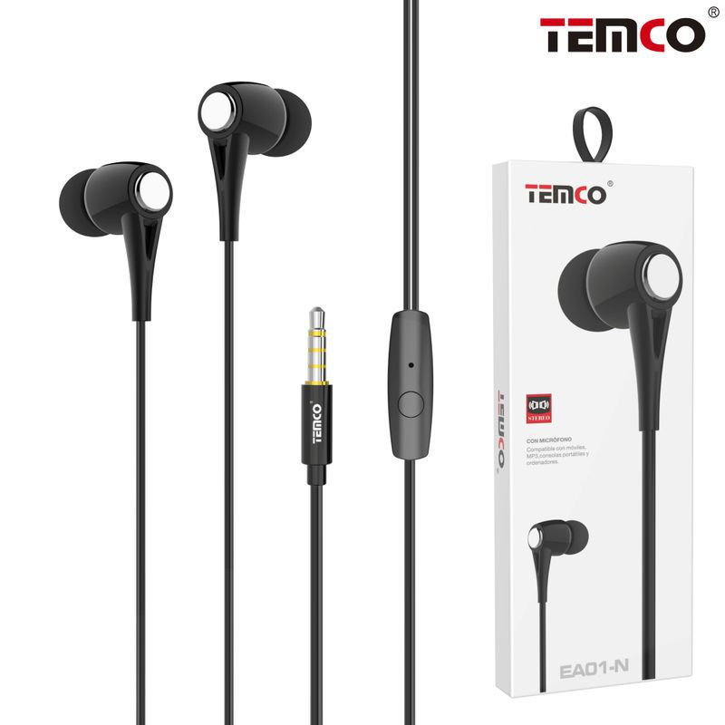 Headphones with Mic EA01 Black