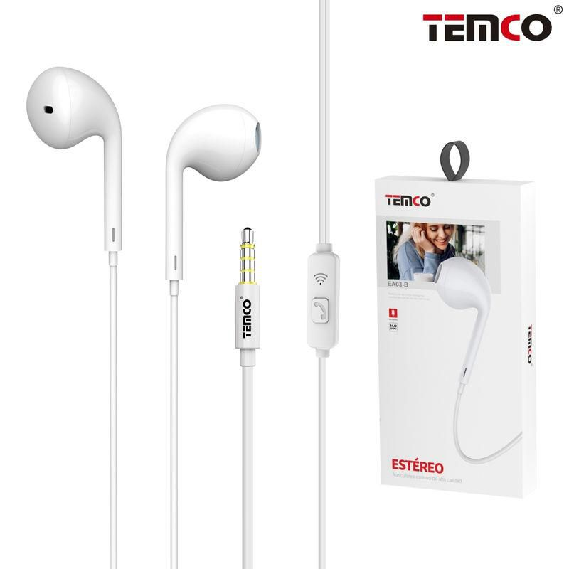 Auriculares con Mic 3.5MM Blanco