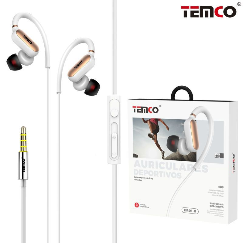 Sports Headphones with Mic ER01 Red