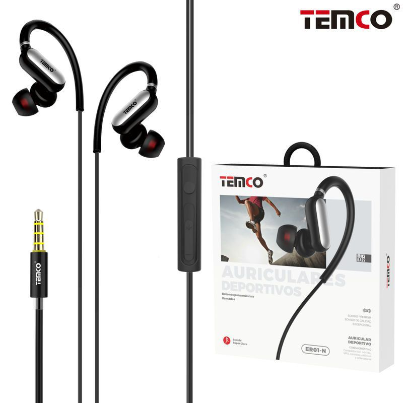 Sports Headphones with Mic ER01 Black