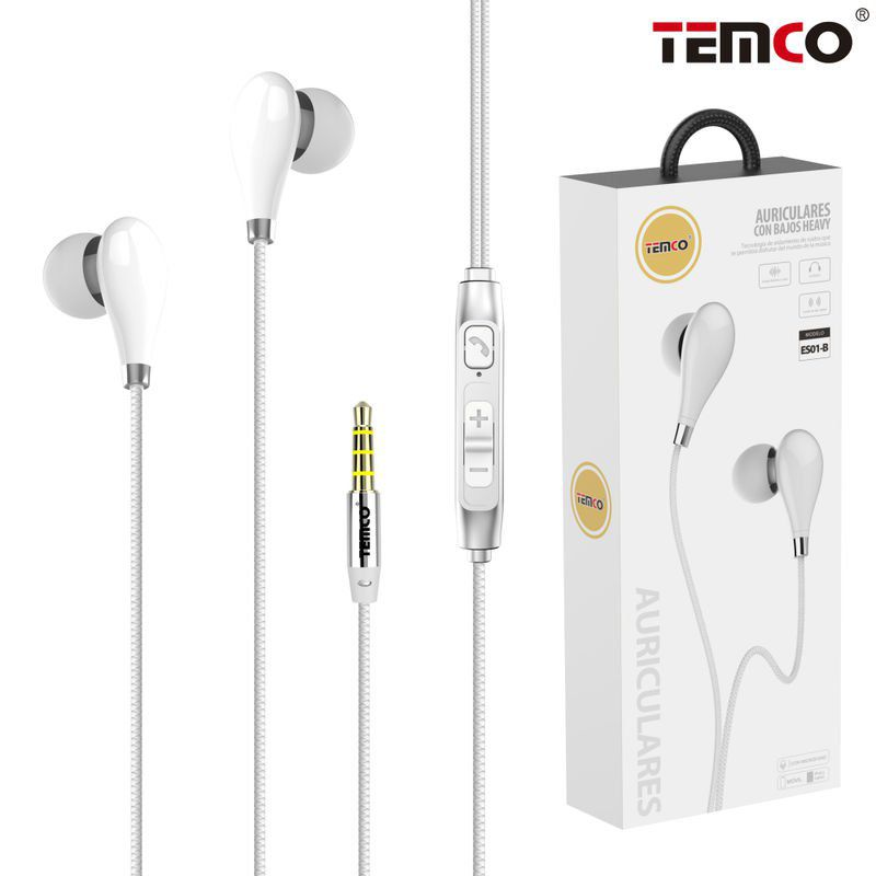Headphones with Mic ES01 White