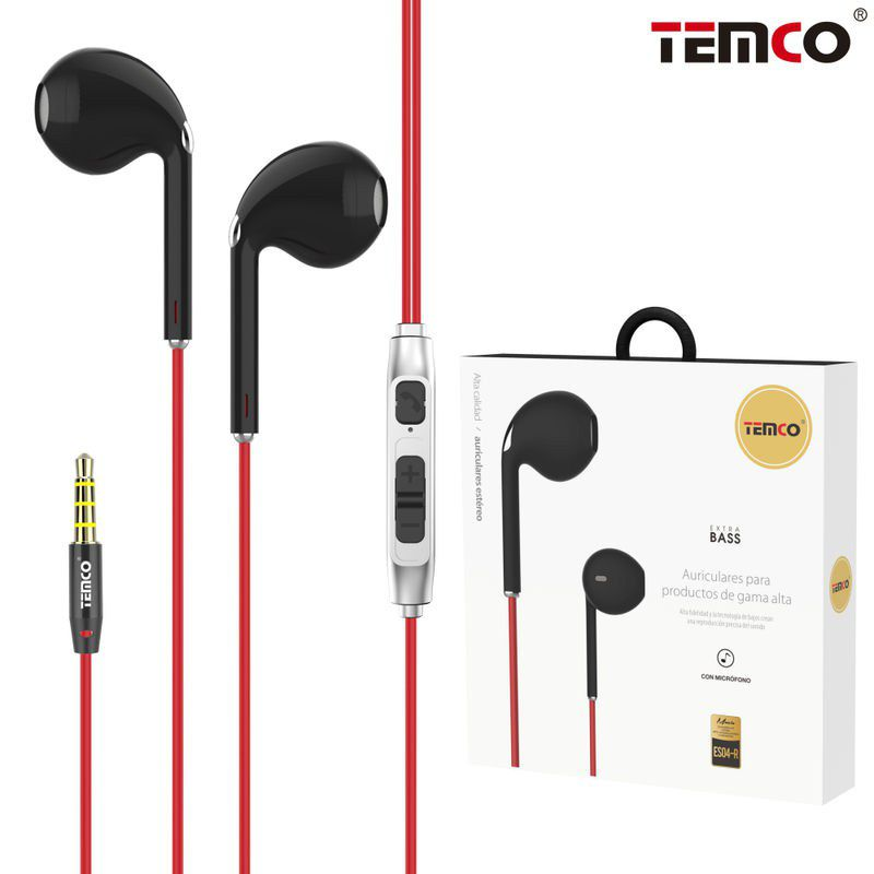 Headphones with Mic ES04 Red